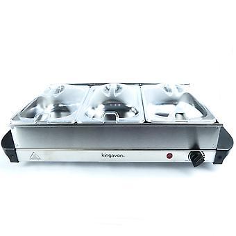 Kingavon bs100 Buffet-Server, Edelstahl, 2.365 Liter, Silber