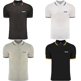 Lambretta Mens Twin Tipped Classic Smart Casual Retro Cotton Polo Shirt Top