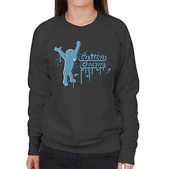 Neugierige George Paint Drip Logo Frauen's Sweatshirt