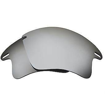 عدسات بديلة لـ Oakley Fast Jacket XL النظارات الشمسية المضادة للخدش الفضة