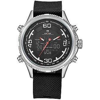 WEIDE 6306 Dual Display Digitaalinen kello Viihtyisä Silikonihihna Hälytyskalenteri