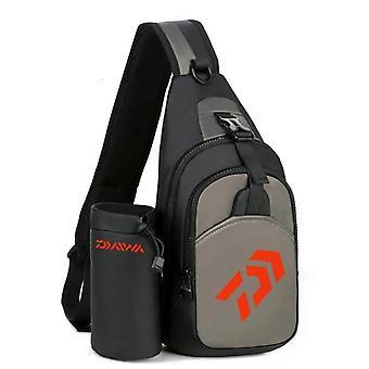 Hommes -femmes Sacs de pêche à épaule unique, sacs à dos imperméables multifonfonmés