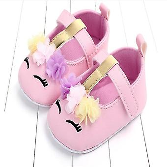 Infant Newborn Baby Soft Pu Leather Soft Crib Shoes