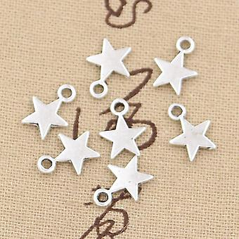 100pcs Charms Star 11x8mm Handmade Craft Pendant Making Fit For Bracelet