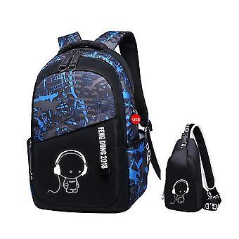 Boys School Bags Waterproof School Backpack For Teenagers