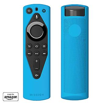 Mission remote case for the all-new fire tv voice remote (2018 version), bahama blue