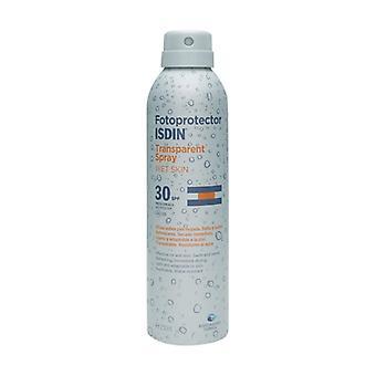 Aurinkovoiteen märkä vaikutus, läpinäkyvä spray SPF30 Ei mitään