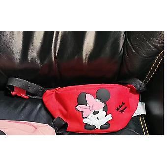 Canves Carton,, Messenger Bag, Mickey Mouse Chest Minnie Coin Belt Pouch