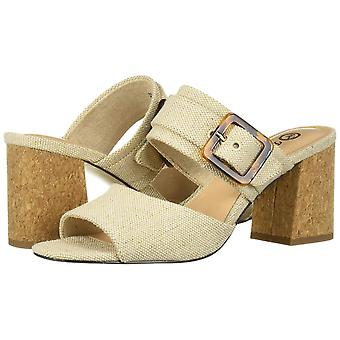 Bella Vita Womens Tory Ii Fabric Peep Toe Casual Slide Sandals