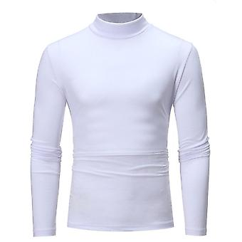 Men Turtle Neck Sweater Pullover, Long Sleeve, Stretch, Slim Basic Blouse