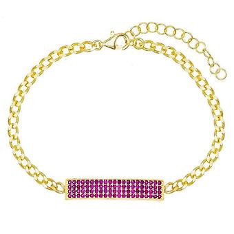 Chain Bracelet Embellished With Swarovski