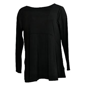 Joan Rivers Classics Collection Women's Top Jersey Knit Swing Black A347271