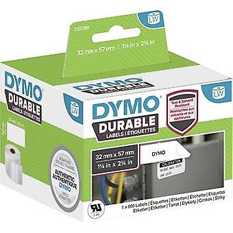 DYMO 2112289 Etikettenrolle 57 x 32 mm PE-Folie Weiß 800 Stk. Permanente Allzwecketiketten, Adressetiketten
