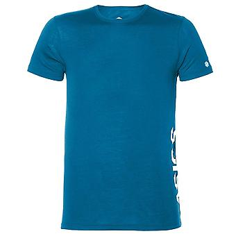 Asics Miesten Essential Logo Training T-paita Running Gym Ajanviete Top 155235 8095