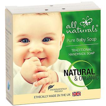 Tutti naturali, sapone biologico puro per bambini, arricchito con burro di karité, jojoba, oli di mandorle, 100g
