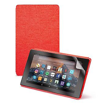 """Fire hd 8 essentials bundle including fire hd 8 tablet with alexa, 8"""" display, 32 gb, red - with spe"""