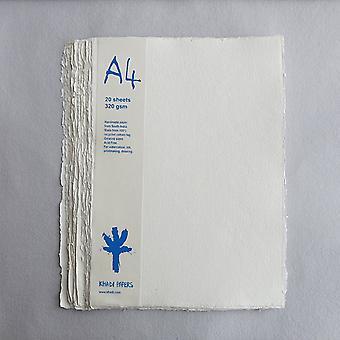 Khadi handmade rag paper pack of 20 - 320gsm - a4
