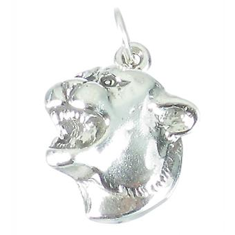 Cougar Head Sterlng Silver 2d Charm Pendant .925 X1 Cougars Heads Charms - 2609