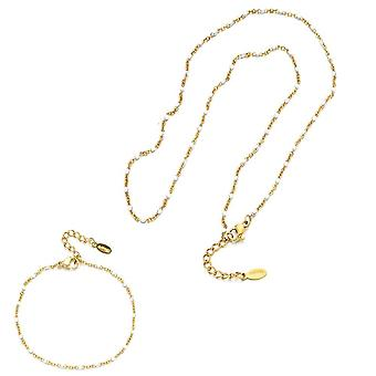 Fashion Enamel Chains Necklace/bracelet Set