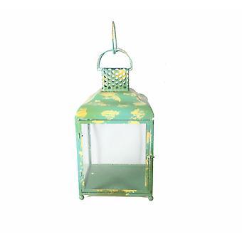 Betörendes Quadrat Metall Kerzenhalter, grün