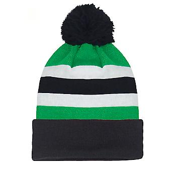 fan originals Retro Football Bobble Hat in Celtic Colours Green White