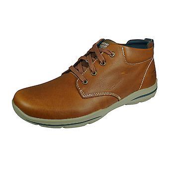 Skechers Harper Melden Hombres Zapatos de Ajuste Relajado - Marrón