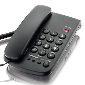 DAERXIN TCF-2000 Desktop Corded Landline Phone Fixed Telephone Mute/Pause/Flash/Redial for Home Offi