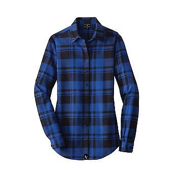 Dámske flanelové kockované tričko, bavlnená jar a jeseň