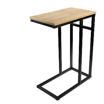 Holz Sofa/Seite/Ende/Laptop Tisch mit glänzenden Top und ChromRahmen