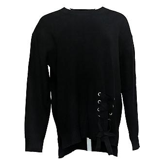 G By Giuliana Women's Sweater S With Tie Black 678-482