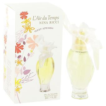 L'air Du Temps Eau De Toilette Spray By Nina Ricci 1 oz Eau De Toilette Spray
