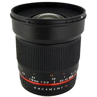 Rokinon 16m-m43 16mm f/2.0 aspherical wide angle lens for olympus/panasonic m...