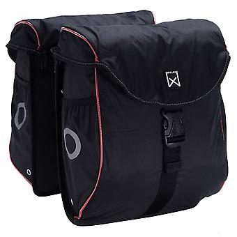 Willex Bicycle Bags 300 Flexi 24 L Black and Red