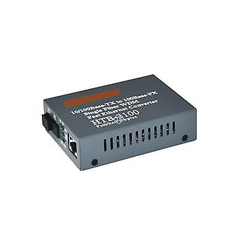 Htb-3100 A/b 1/pair Optical Fiber Media Converter Transceiver 25km Sc 10/100m