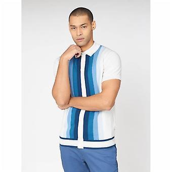 Botón Ben Sherman a través de Mod Polo Shirt - Marfil