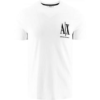 Armani Exchange White Logo T-Shirt