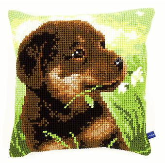 Vervaco Cross Stitch Kit: Coussin: Rottweiler Puppy