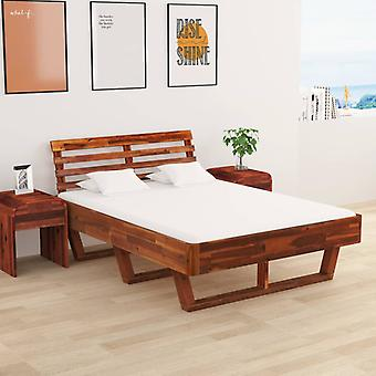 vidaXL bed frame with 2 bedside tables solid wood acacia 140x200 cm