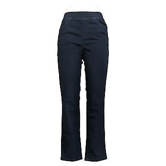 Denim & Co. Women's Jeans Regular Modern Denim Slim Straight Blue A366796