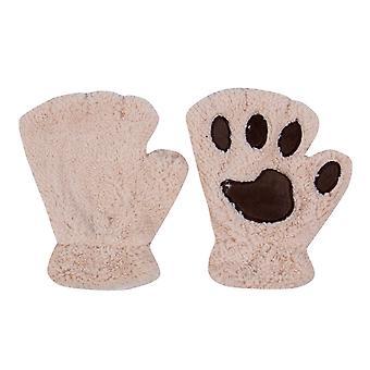Winter Women Ladies Paw Short Fingerless Gloves