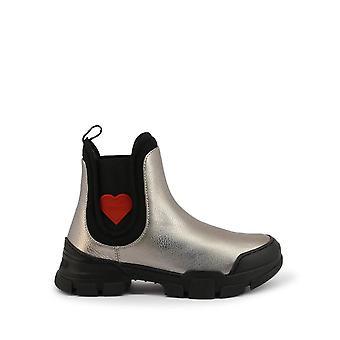 Love Moschino - Shoes - Ankle boots - JA15614G0BJC-0907 - ladies - silver,black - EU 40