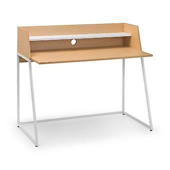 Polymer Desk White/Oak