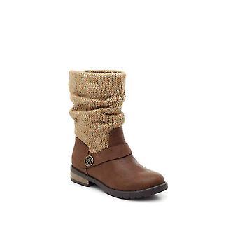 Jessica Simpson Baby Girl Summit Lederen Pull Op Mid Calf Boots