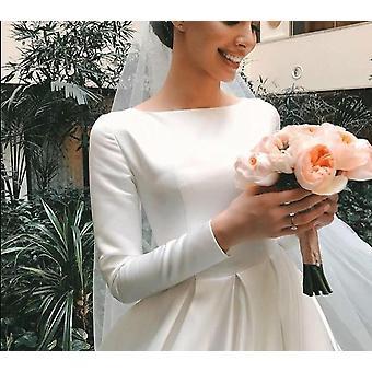 Eenvoudige vintage trouwjurk