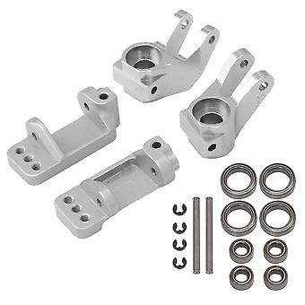 4 Pieces RC 1:10 Caster Steering Block Replacement for Traxxas Silver