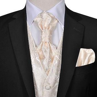 Set de gilets de mariage pour hommes Paisley Taille 56 Crème