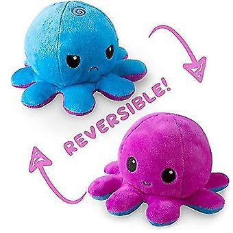 Reversible octopulushie black gray show your mood without saying a word pl-40