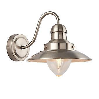 Endon Belysning Mendip Væg lys i Satin Nikkel & Klart glas