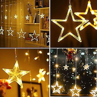 Stars curtain light 138 led wall window light indoor lighting decoration light warm white dt7183