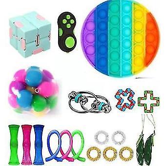 For 20pcs Pack Sensory Toy Set Antistress Relief Fidget Toys WS44705